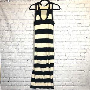 Standard James Perse Bar Stripe Tank Maxi Dress